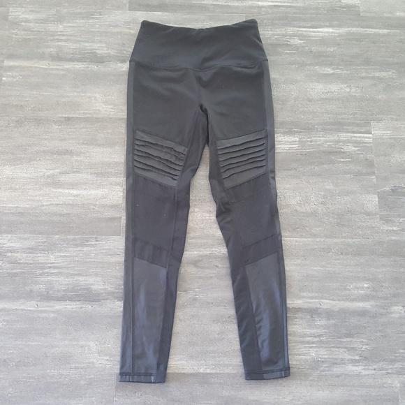 d15e162709f6f Victoria's Secret Pants | Black Moto Victoria Sport Knockout Legging ...